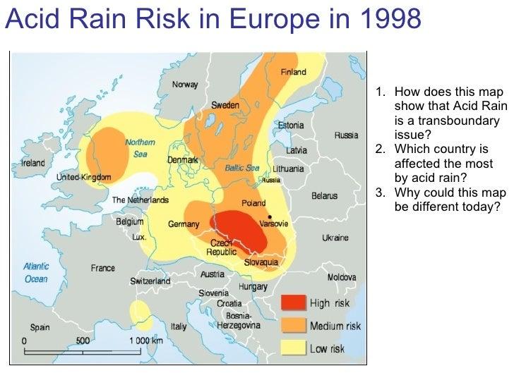 Acid Rain Tasks - Acid deposition map of us