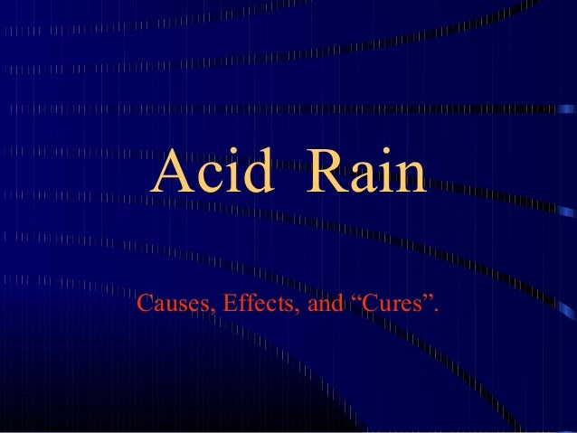 powerpoint presentation on acid rain