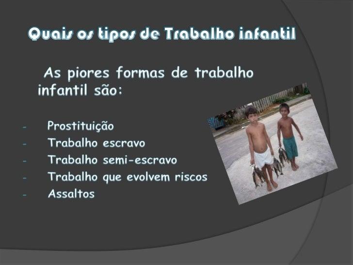 Trabalho infantil Slide 3