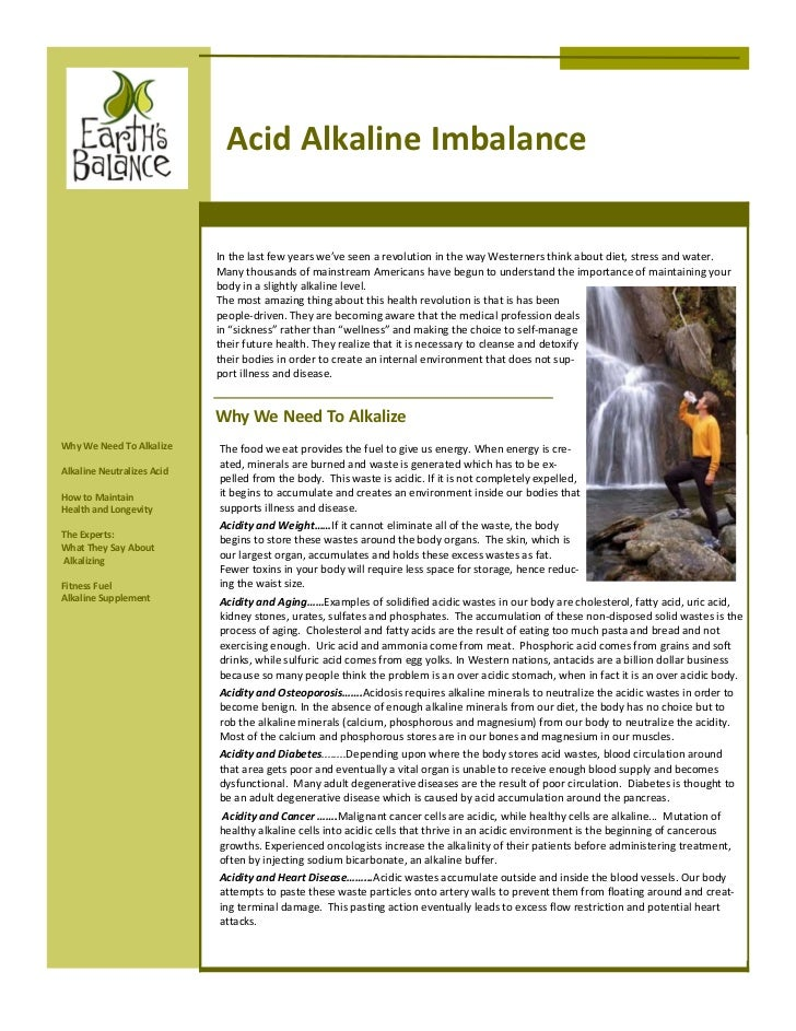 Acid Alkaline Imbalance                            In the last few years we've seen a revolution in the way Westerners thi...
