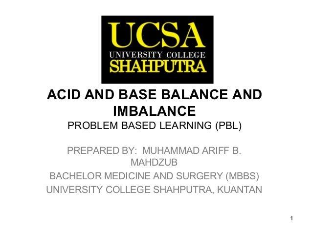 Acid and base regulation