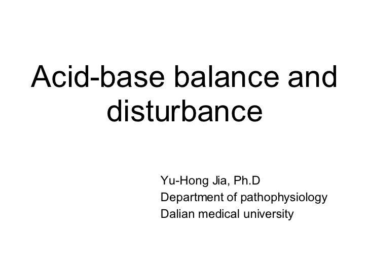Acid Base Balance And Disturbance