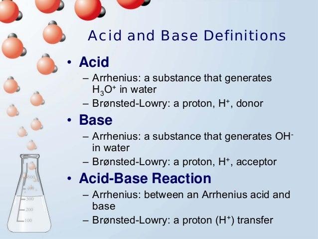 acid base and acid base titration