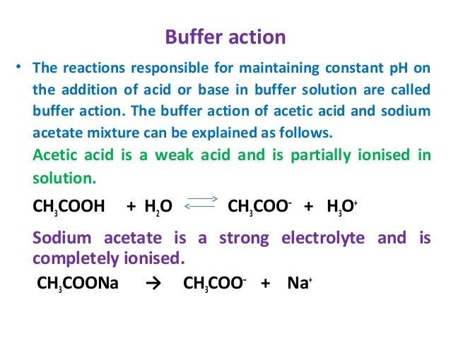 Acid base equilibria
