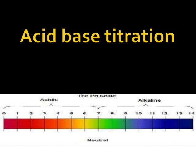 Acid base titration   An acid-base titration is a procedure used in quantitative chemical analysis to determine the conce...