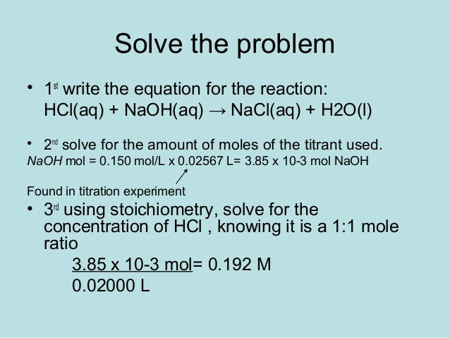 solve titration problems