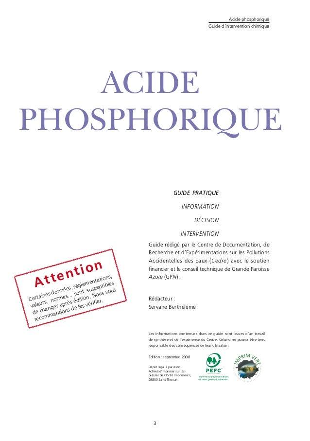 Acide phosphorique - Acide chlorhydrique utilisation ...