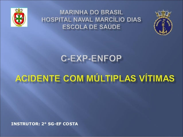 INSTRUTOR: 2° SG-EF COSTA