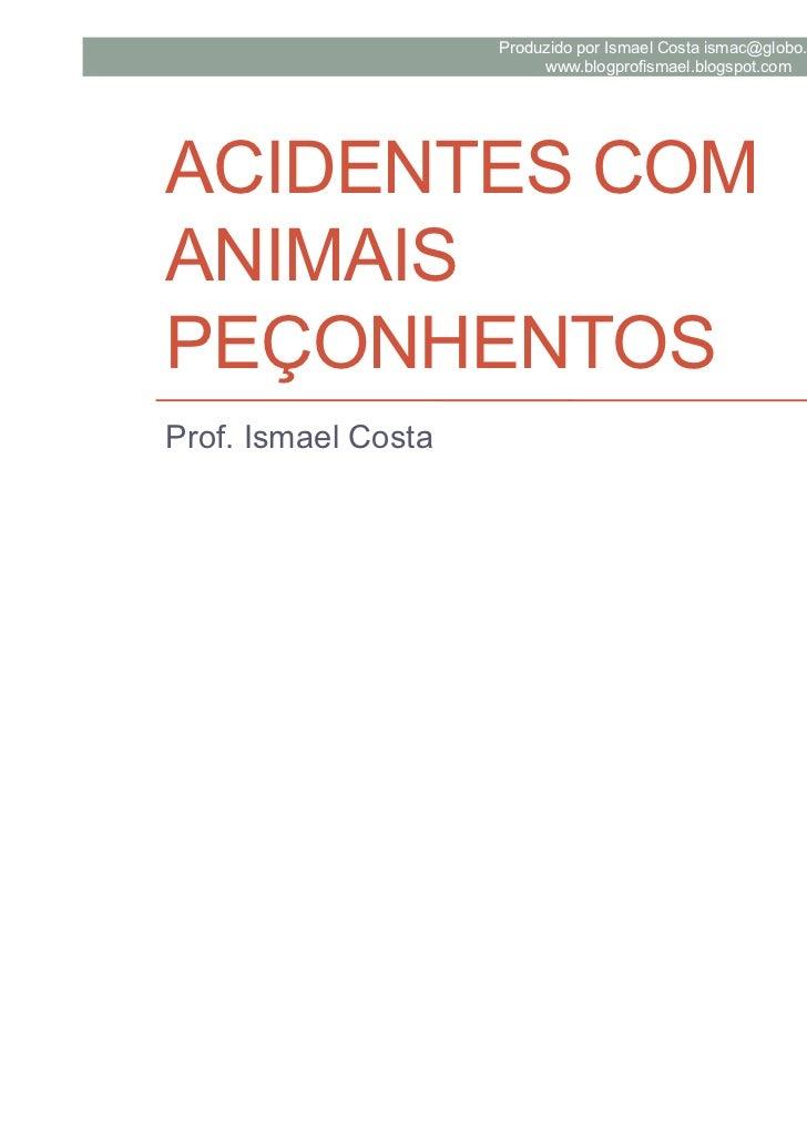 Produzido por Ismael Costa ismac@globo.com                          www.blogprofismael.blogspot.comACIDENTES COMANIMAISPEÇ...