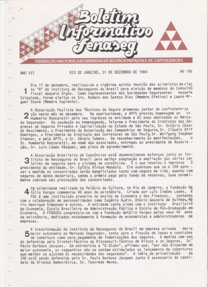 ANOXVI                           RIO DE JANEIRO, 31 DE DEZEMBROE 1984                                                     ...