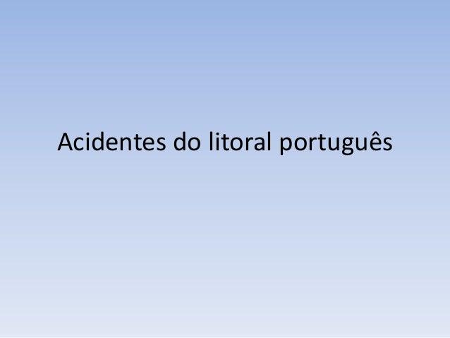 Acidentes do litoral português