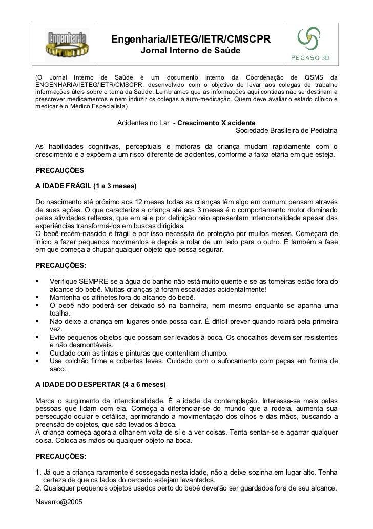 Engenharia/IETEG/IETR/CMSCPR                                   Jornal Interno de Saúde(O Jornal Interno de Saúde é um docu...