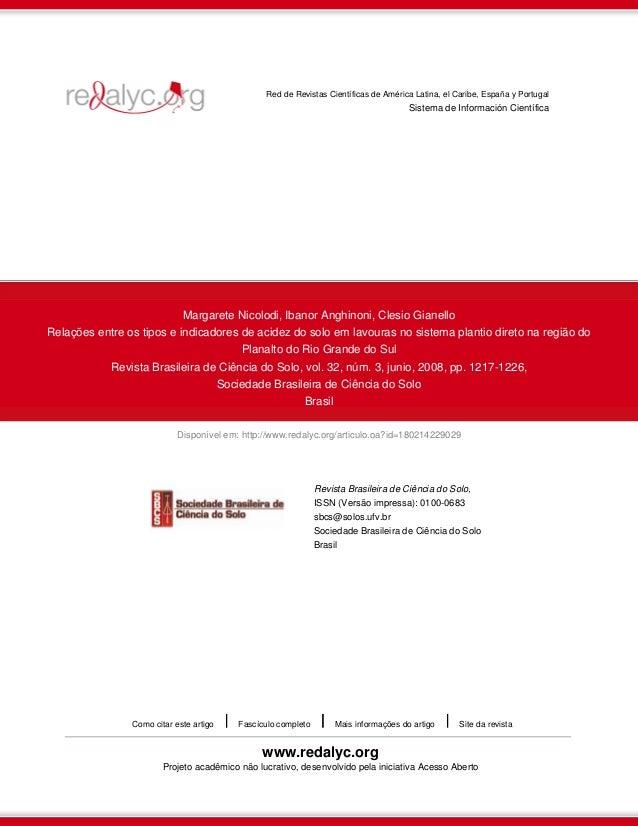 Disponível em: http://www.redalyc.org/articulo.oa?id=180214229029 Red de Revistas Científicas de América Latina, el Caribe...