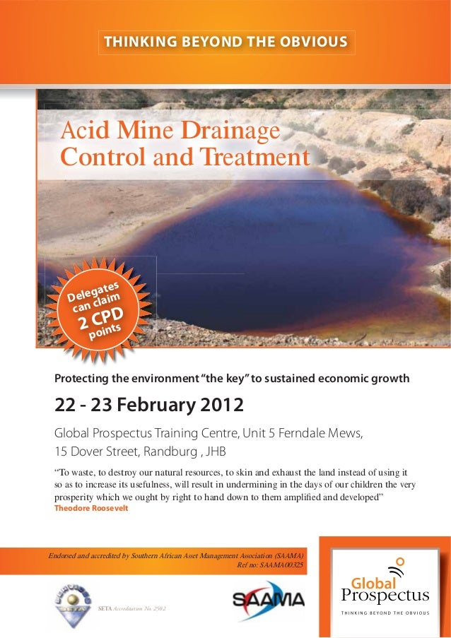 """22 - 23 February 2012 Protecting the environment""""the key""""to sustained economic growth Global Prospectus Training Centre, U..."""