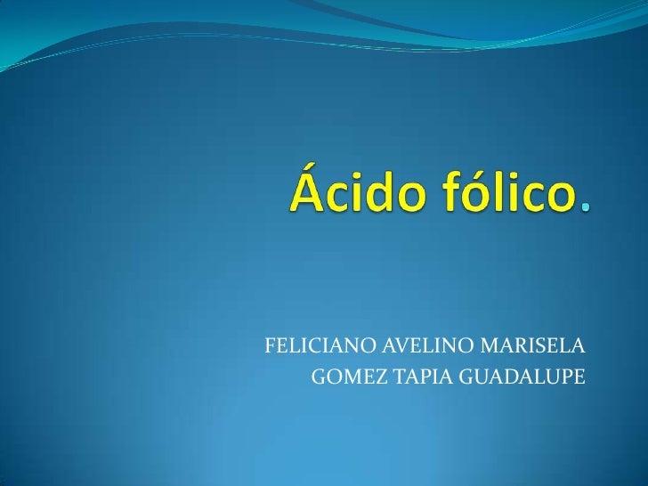 FELICIANO AVELINO MARISELA     GOMEZ TAPIA GUADALUPE