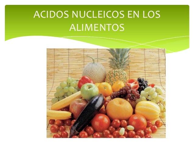 Acido nucleico - Hierro alimentos que lo contienen ...