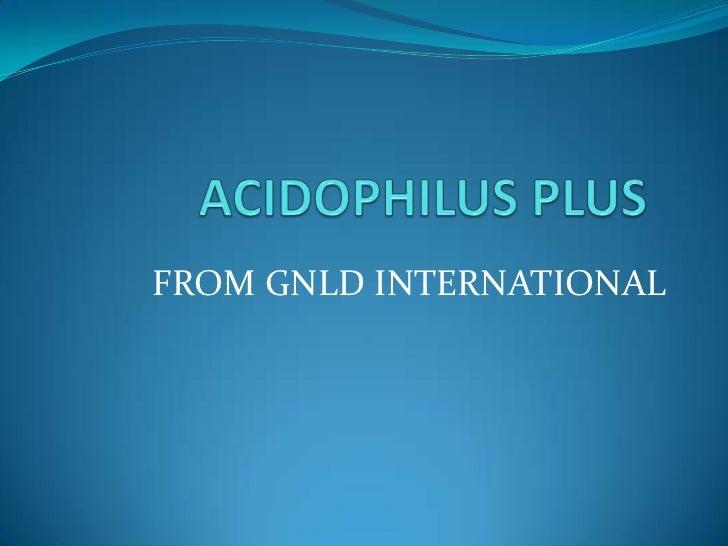 FROM GNLD INTERNATIONAL