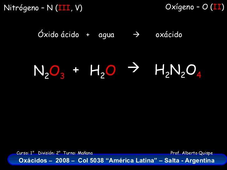 ácidos Del Nitrogeno