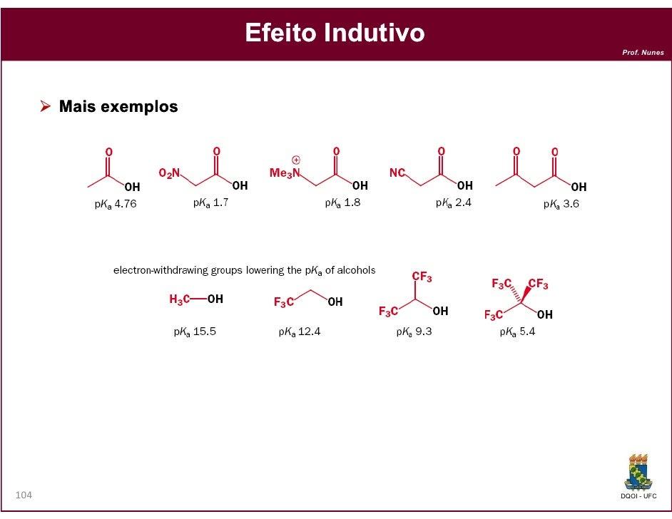 Efeito Indutivo                                        Prof. Nunes      Mais exemplos104                                  ...