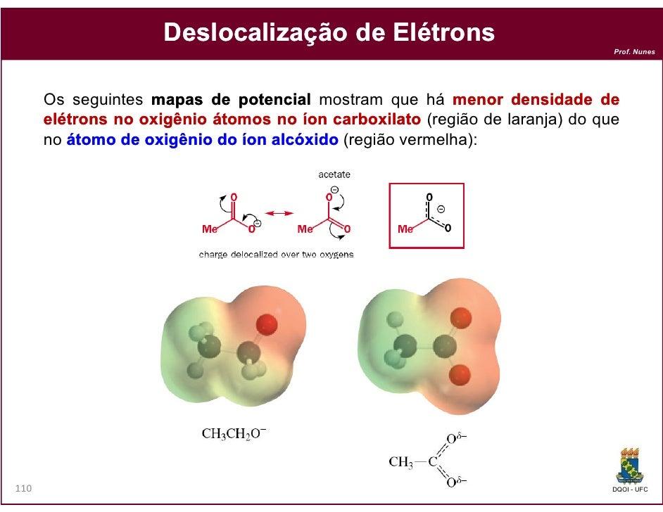 Deslocalização de Elétrons                                                                              Prof. Nunes      O...