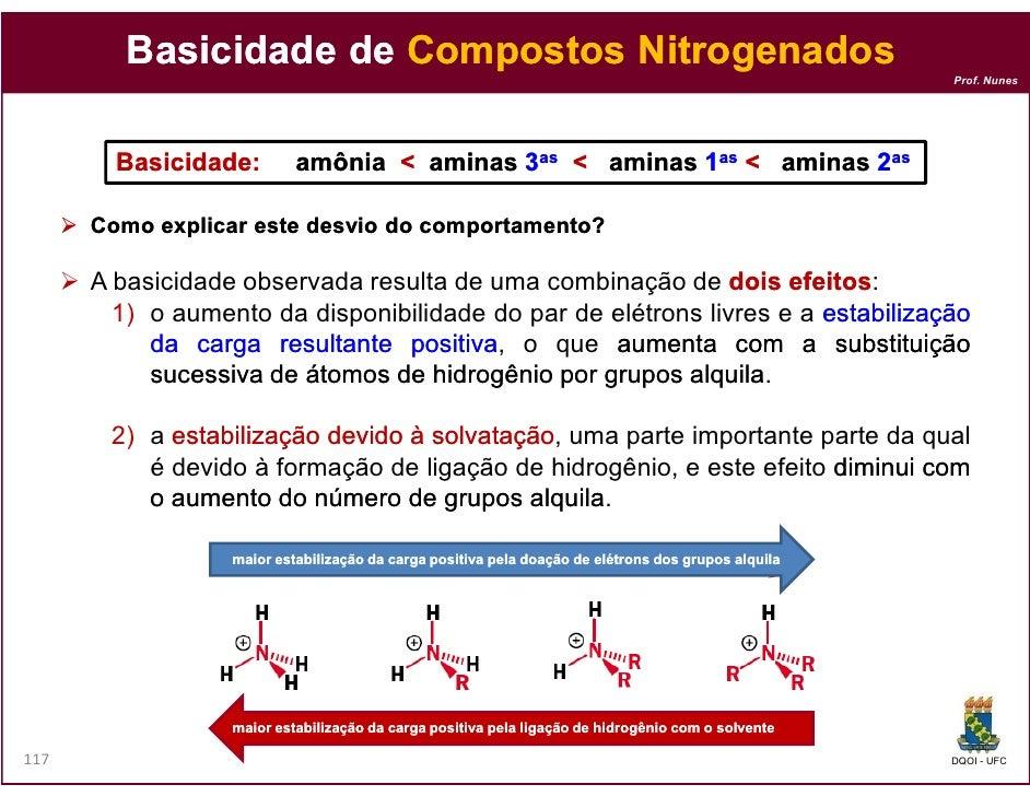 Basicidade de Compostos Nitrogenados                                                                                      ...