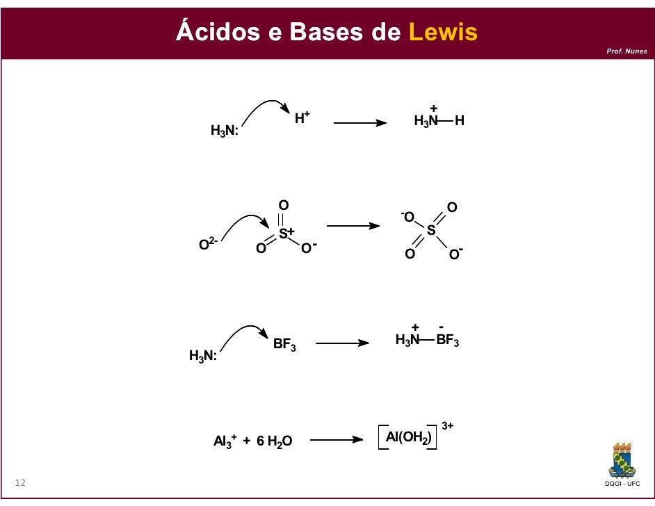 Ácidos e Bases de Lewis                                                         Prof. Nunes                               ...