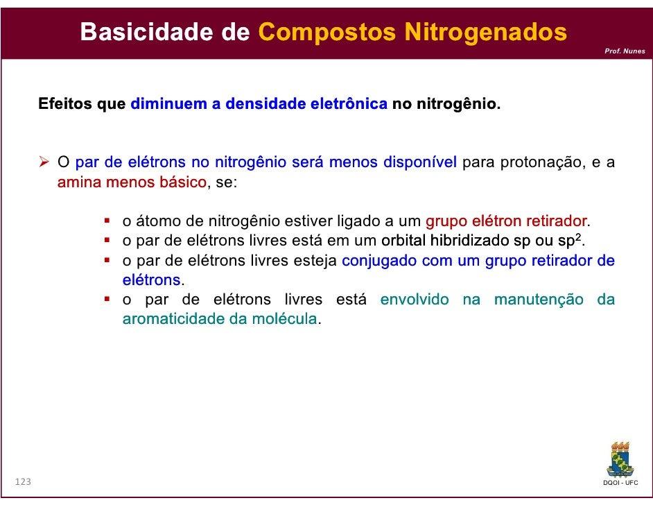 Basicidade de Compostos Nitrogenados                                                                                  Prof...