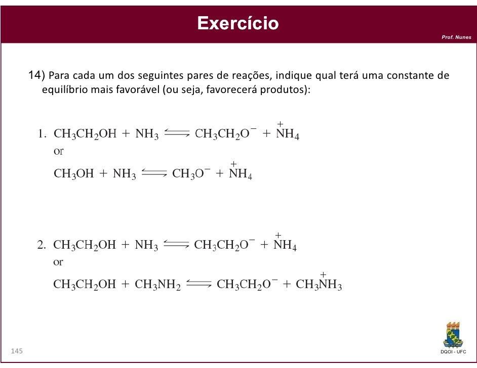 Exercício                                                                                       Prof. Nunes      14) Para ...