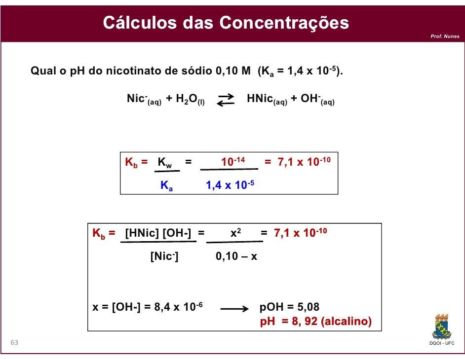 Cálculos das Concentrações                                                                               Prof. Nunes     Q...
