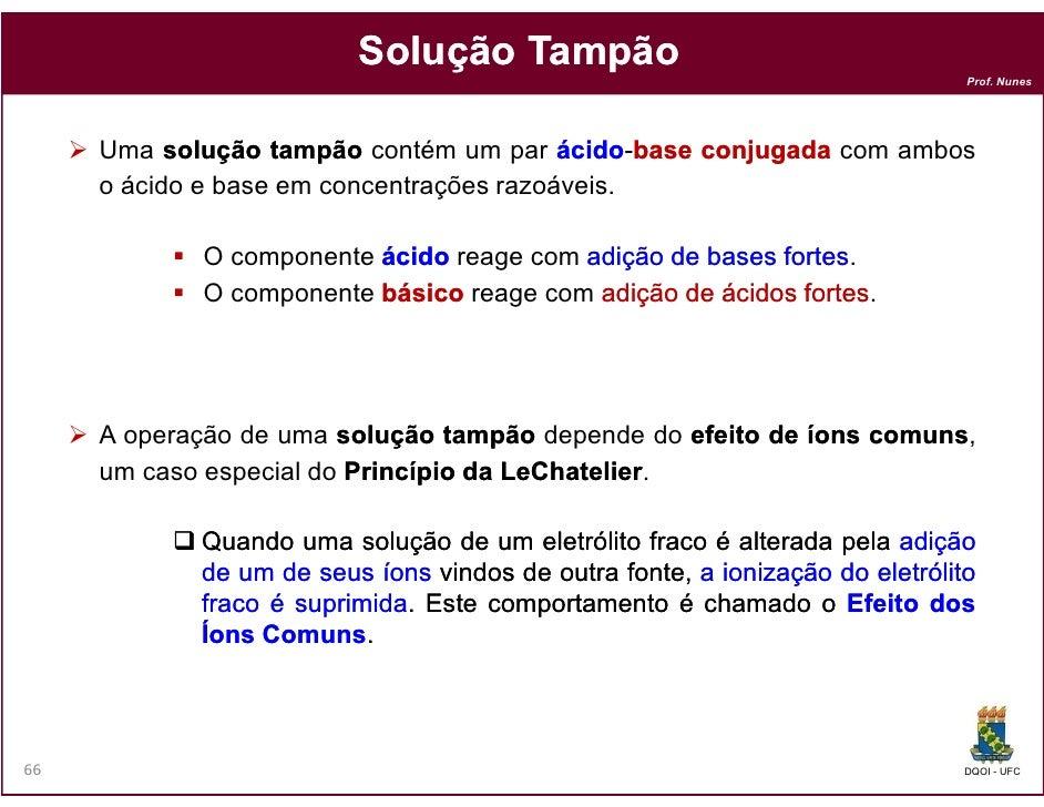 Solução Tampão                                                                              Prof. Nunes     Uma solução ta...