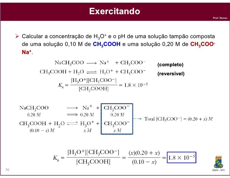 Exercitando                                                                         Prof. Nunes     Calcular a concentraçã...