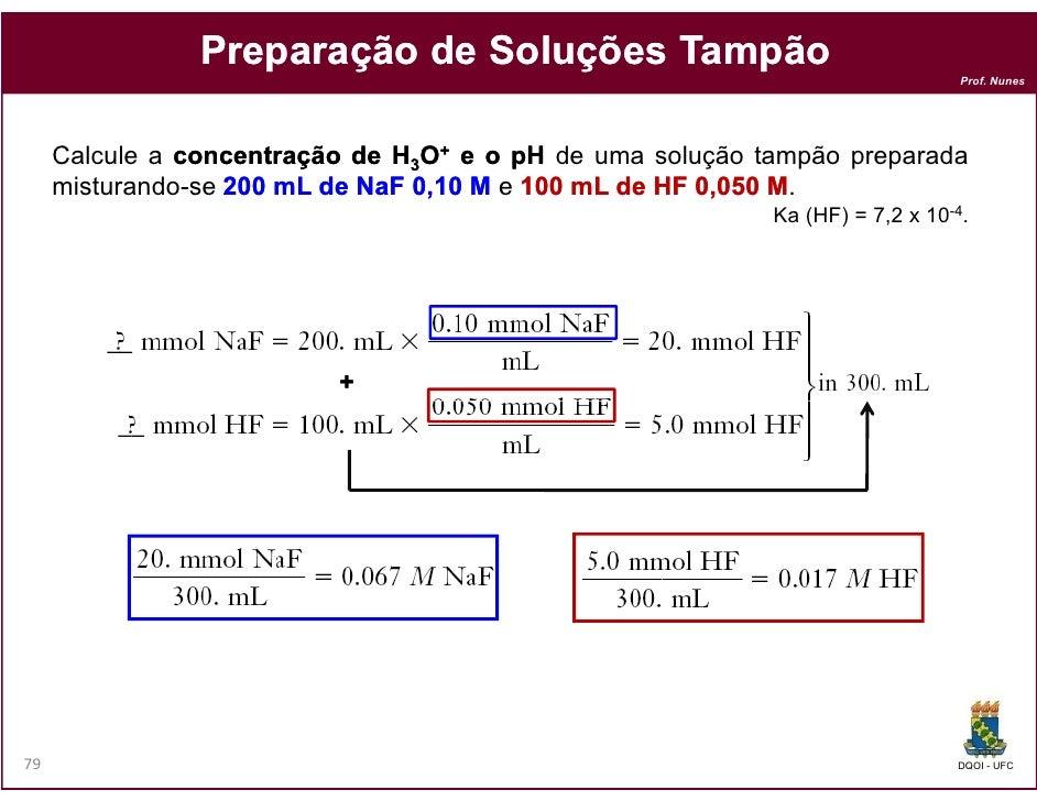 Preparação de Soluções Tampão                                                                               Prof. Nunes   ...