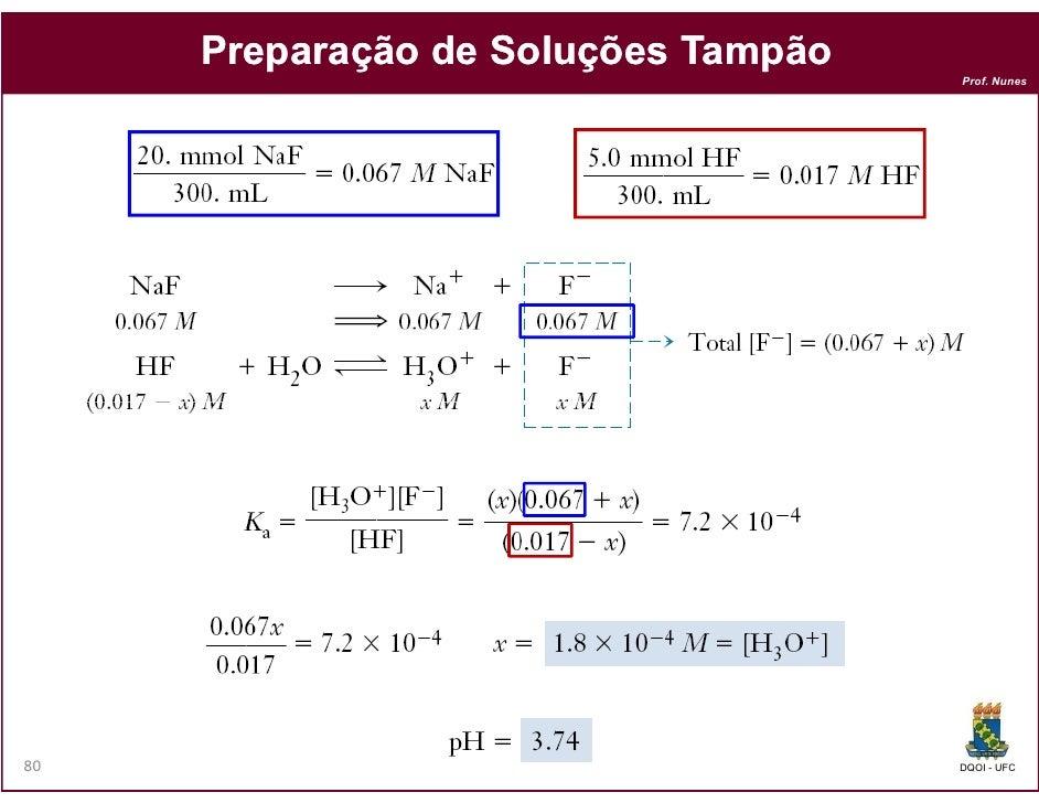 Preparação de Soluções Tampão                                     Prof. Nunes80                                   DQOI - UFC