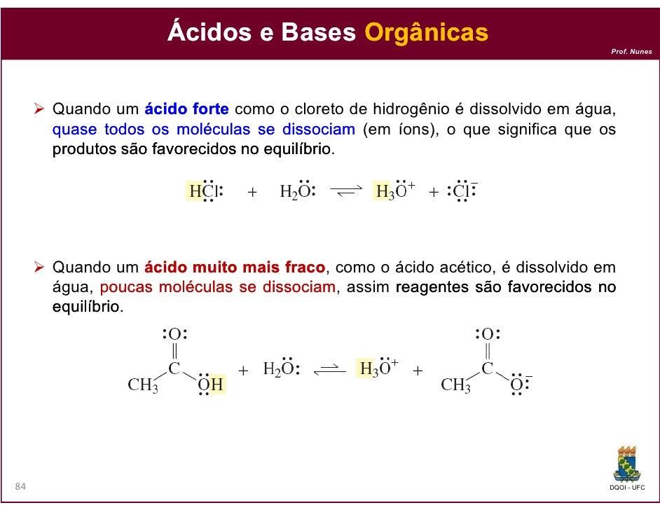 Ácidos e Bases Orgânicas                                                                            Prof. Nunes     Quando...