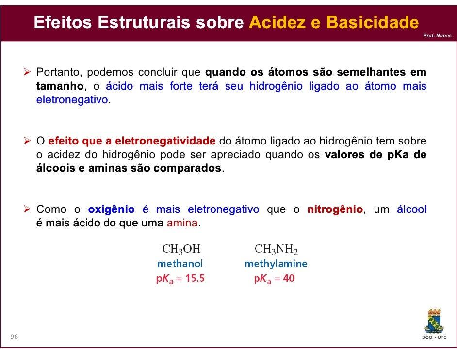 Efeitos Estruturais sobre Acidez e Basicidade                                                                             ...