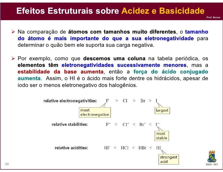 Efeitos Estruturais sobre Acidez e Basicidade                                                                            P...