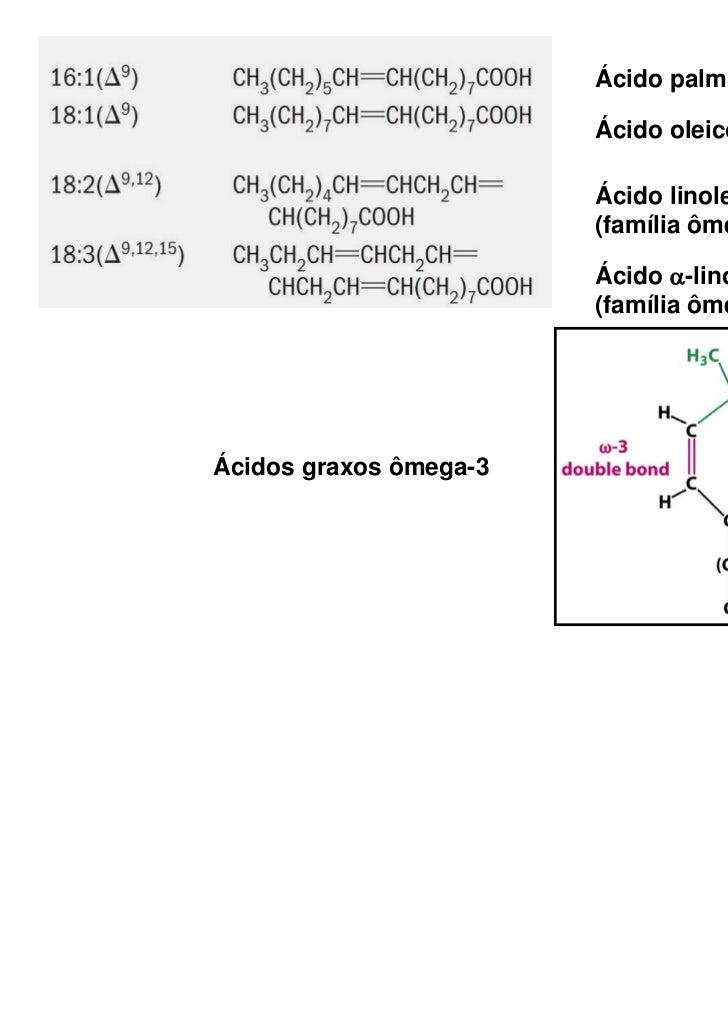 Ácido palmitoleico                        Ácido oleico                        Ácido linoleico                        (famí...