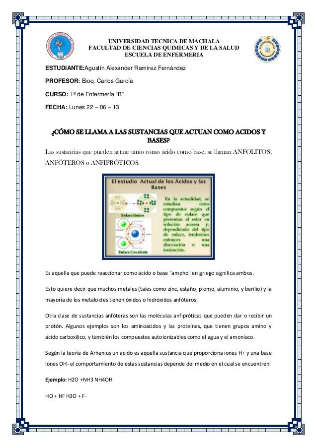 UNIVERSIDAD TECNICA DE MACHALA FACULTAD DE CIENCIAS QUIMICAS Y DE LA SALUD ESCUELA DE ENFERMERIA ESTUDIANTE:Agustín Alexan...