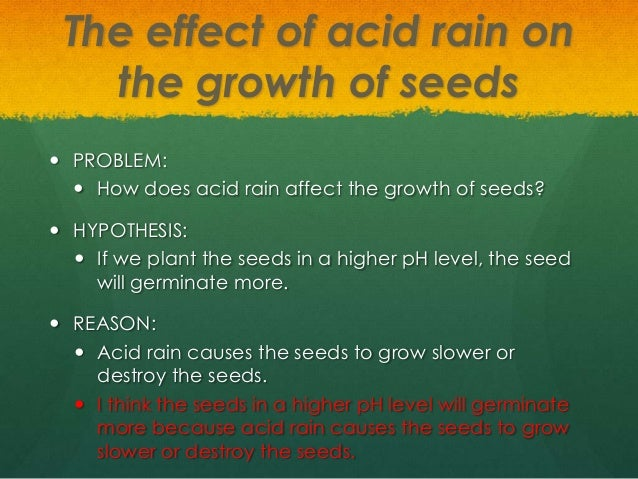 effects of acid rain to earthworms Since acid rain affects soil ph and, therefore, calcium levels due to increased nutrient leaching, we conclude that an increase in acid rain could affect earthworm habitat.