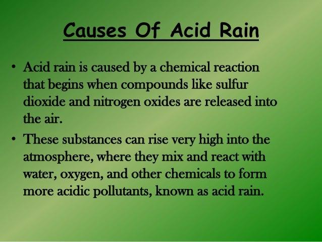 Acid rain greenhouse effect