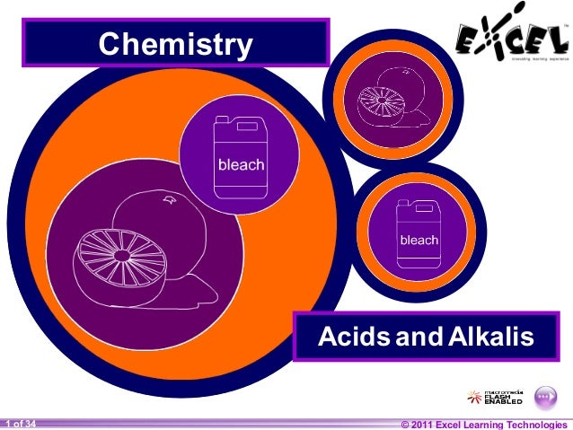 Chemistry  Acids and Alkalis 1 of 34 20  © 2011 Excel © Boardworks Ltd 2004 Learning Technologies