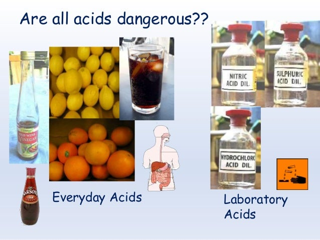 Acids and alkalis for House of acid
