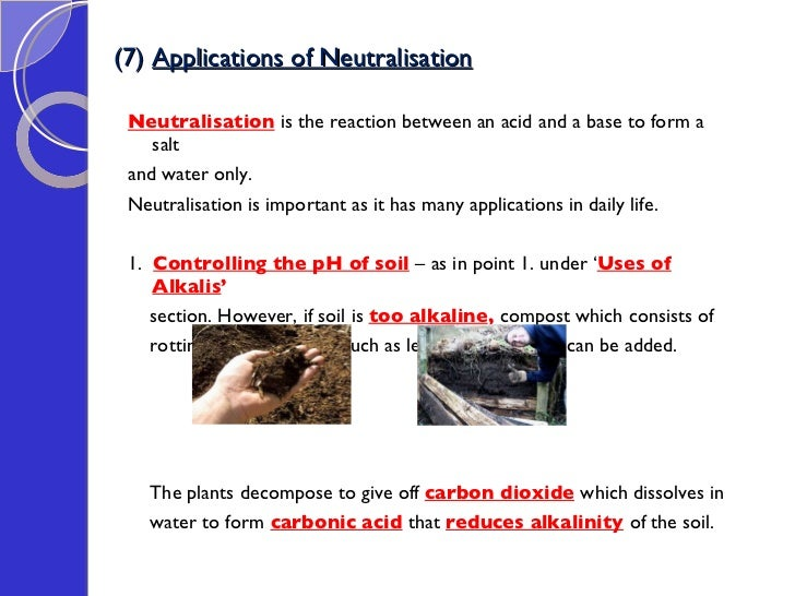 5 uses of neutralisation reactions