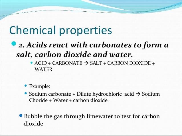Acid Test Chemical Property