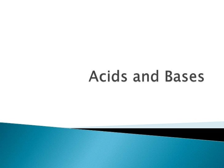 Acids and Bases<br />