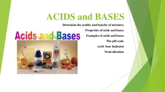 acids and bases in everyday use