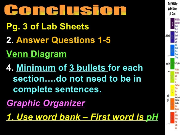Pg. 3 of Lab Sheets2. Answer Questions 1-5Venn Diagram4. Minimum of 3 bullets for each  section….do not need to be in  com...