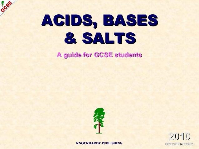 Acids, bases and salts IGCSE Chemistry