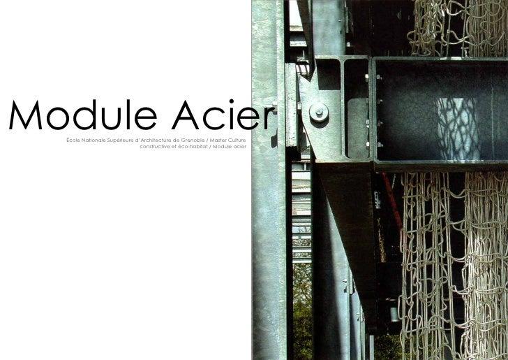 Module Acier  école Nationale Supérieure d'Architecture de Grenoble / Master Culture                               constru...