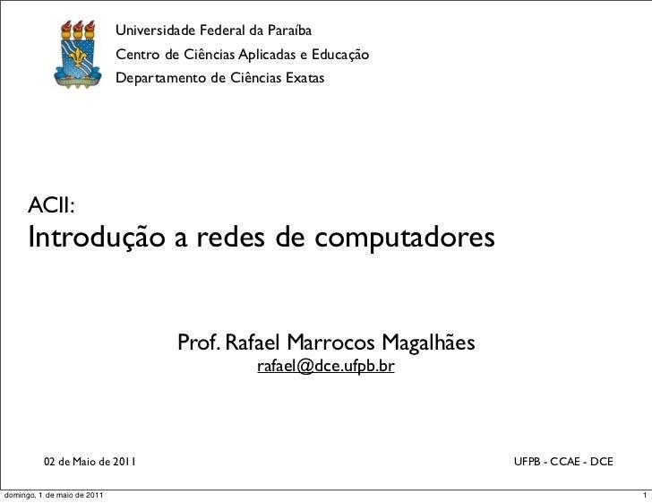 Universidade Federal da Paraíba                                Centro de Ciências Aplicadas e Educação                    ...